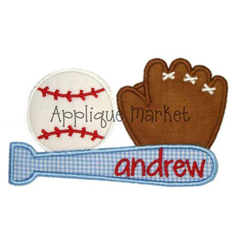 machine applique designs machine embroidery design applique baseball trio instant
