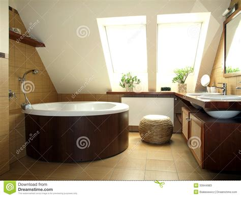 nella soffitta bagno nella soffitta immagine stock immagine di