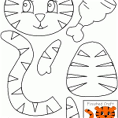 tiger puppet template cut paste crafts for crafts and worksheets for