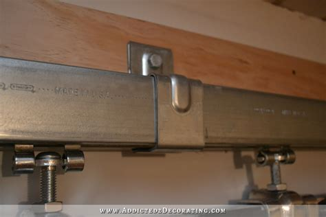 Cheap Barn Door Hardware The Real Thing How To Install Barn Door Track