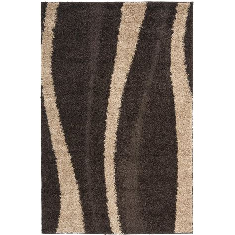 Brown Shag Area Rug Safavieh Laguna Shag Brown 8 Ft X 10 Ft Area Rug Sgl303f 8 The Home Depot