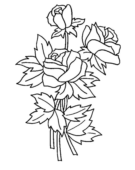 coloring pages of roses coloring pages to print
