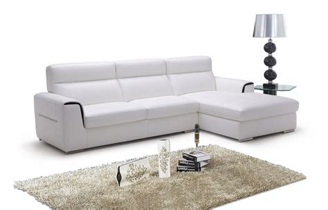 947 modern white italian leather sectional sofa