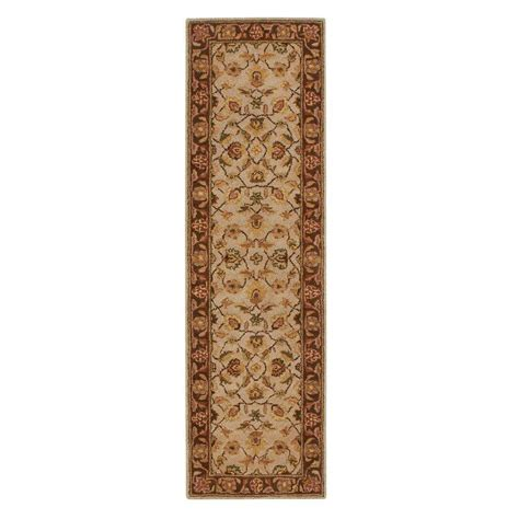 home depot rug runners home decorators collection beige 2 ft 3 in x 8 ft rug runner 4561675410 the home