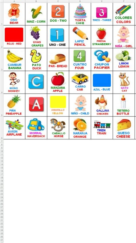 Imagenes Graciosas Loteria Del Niño | loter 237 a did 225 ctica biling 252 e espa 241 ol e ingl 233 s para imprimir