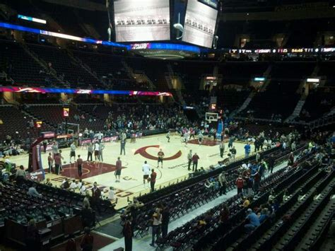 quicken loans arena section  home  cleveland