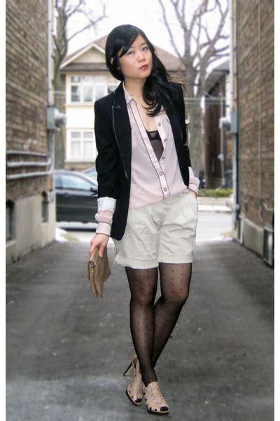 Tania Blazer black zara blazers pink zara blouses black ebay tights beige river island shes quot polished