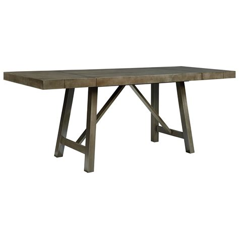 Dining Table Standard Height Standard Furniture Omaha Grey Counter Height Dining Room Table With Trestle Base Olinde S