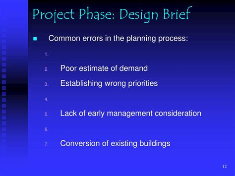 design brief ppt ppt sport facility planning process powerpoint