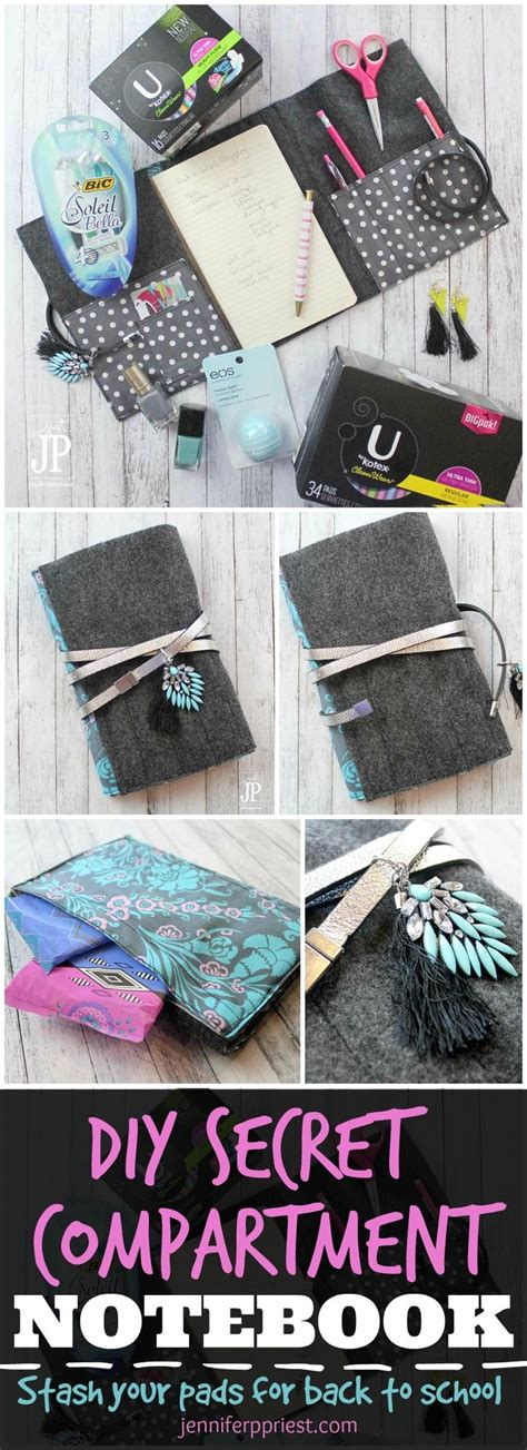 secret ideas for school period kit for school diy secret compartment notebook