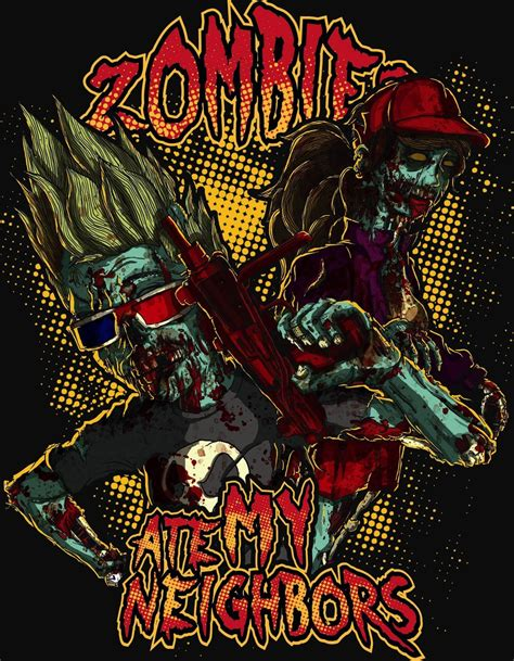 emuparadise zombies ate my neighbors zombies ate my neighbors by abacrombieink on deviantart