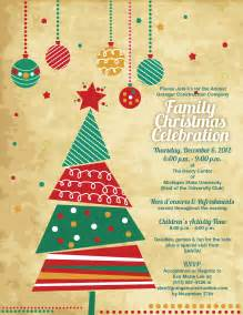 granger christmas party invite option mollieb design