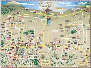 map of prescott arizona area prescott az map car interior design