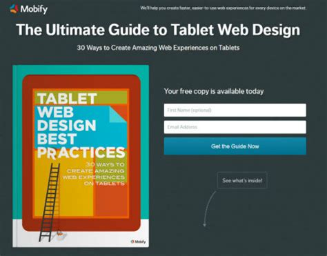 web layout best practices tablet web design best practices free ebook offers loads