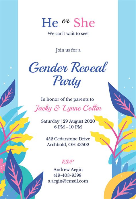 37 Gender Reveal Invitation Template Free Premium Templates Gender Reveal Invitation Template