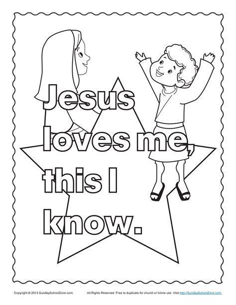 jesus loves me cross coloring page bible coloring pages for kids jesus and the children