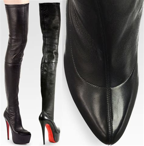 christian louboutin suede thigh high boots knock