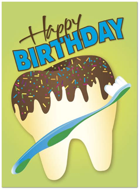 Happy Birthday Wishes For Dentist Tooth Cake Birthday Card Dental Birthday Cards Posty