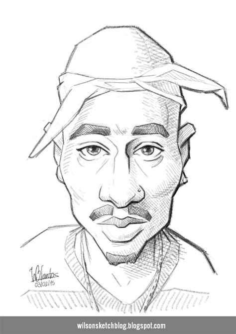 Drawing 2pac by 2 Pac Shacur Free Colouring Pages