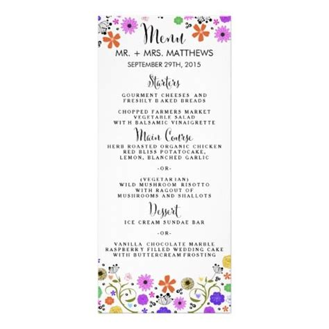 Bridal Shower Menu Card Template by 17 Best The Modern Flowers Collection Images On