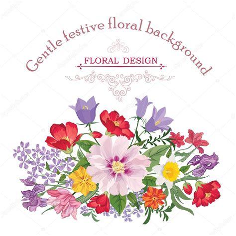 fiori vettoriali bouquet di fiori colorati vettoriali stock 169 yokodesign