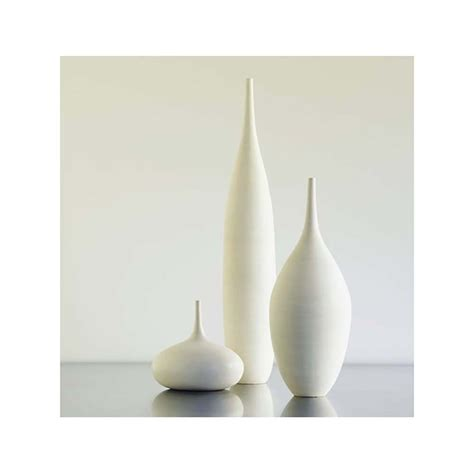 Modern Vases 3 large white modern ceramic bottle vases in modern white