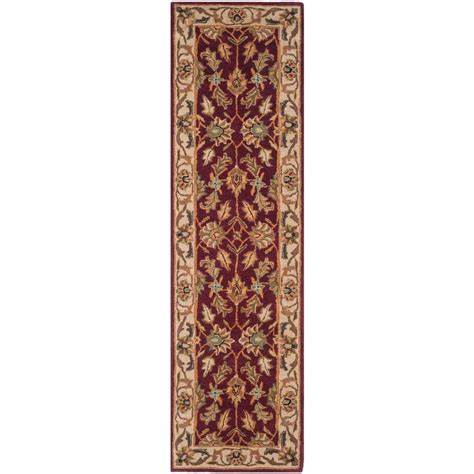 rug runners 2 x 14 safavieh heritage ivory 2 ft 3 in x 14 ft runner hg628d 214 the home depot