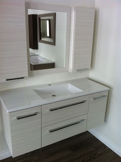 White Floating Bathroom Vanity floating bathroom vanity in modern design for your lovely