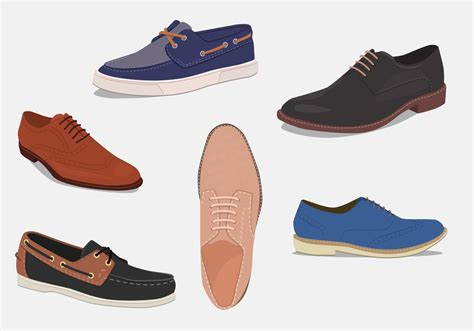 different types of mens boots mens shoes different types free vector