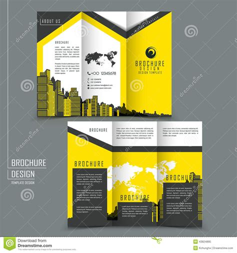 advertisement brochure tri fold template brochure for business advertising stock