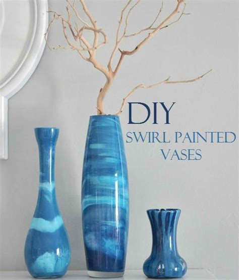 acrylic painting glass vase beautiful diy swirl painted vases home yard