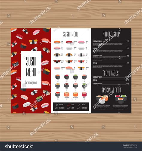 layout menu in pagemaker sushi menu design tri fold leaflet layout template