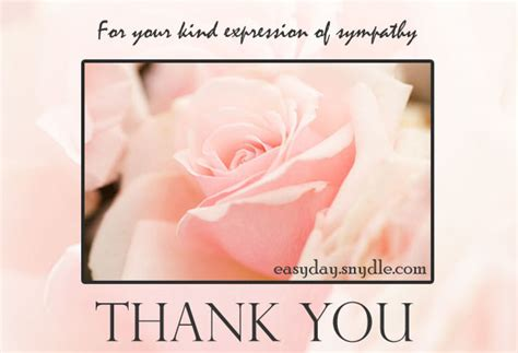 Thank You Note Quotes Sympathy Sympathy Thank You Card Easyday