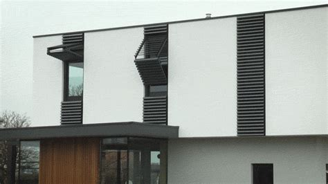 sunshade blinds and drapery renson designs vertically folding shutter that doubles as