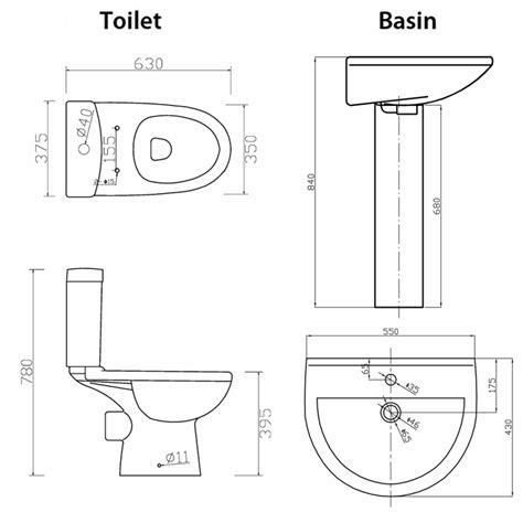 height of drain for bathroom sink toilet basin height