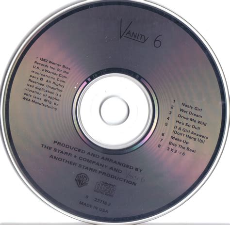 Cd S With S With U dj richi vanity 6 vanity 6 u s cd 1982