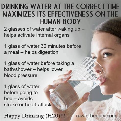 water before bed drink water at specific times for best benefits