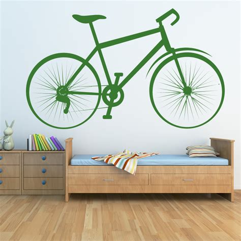 bicycle sports and hobbies bike wall sticker wall decal transfers ebay