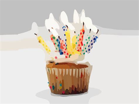 Blurred Birthday Cupcake Candles Backgrounds Foods Drinks Holiday Templates Free Ppt Cupcake Powerpoint Template