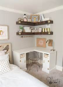 bedroom corner desk diy corner desk shanty 2 chic