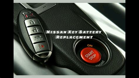 nissan key fob battery replacement youtube