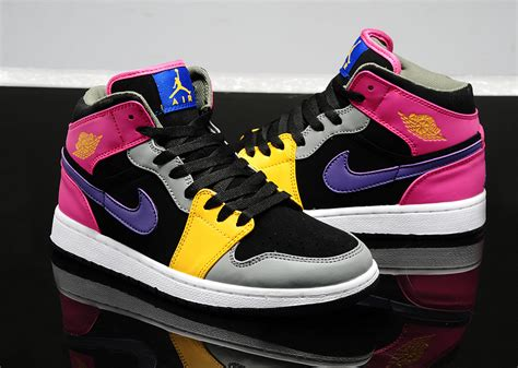 Sepatu Nike Air One Black Pink Womens Style Sporty Trendy deals nike air 1 shoes 2014 new style s purple pink black grey yellow free shipping