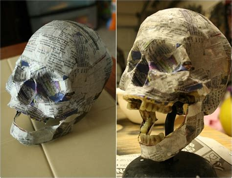 Things To Make From Paper Mache - papier mache 10 cool and creative diy skull craft