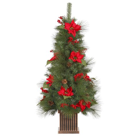 4 ft x 26 quot poinsettia berry tabletop artificial holiday