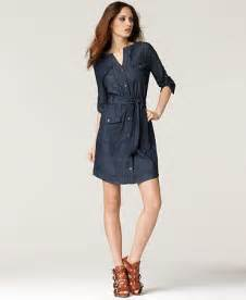 Calvin Klein Jeans Dress Three Quarter Sleeve Belted
