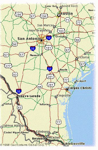 map southern texas route 281 southern texas