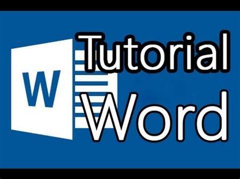 tutorial video word tutorial word 2013 como hacer buenos documentos youtube