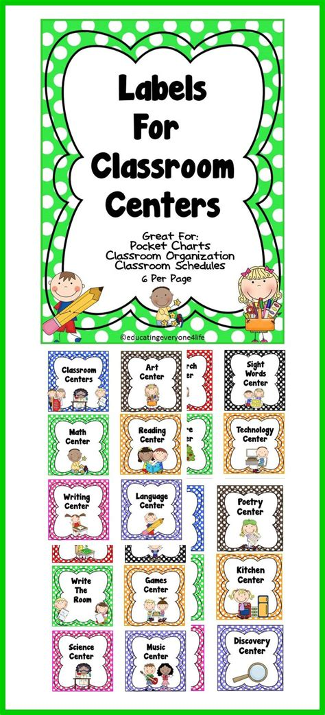 printable labels for kindergarten classroom classroom labels classroom organization organizations
