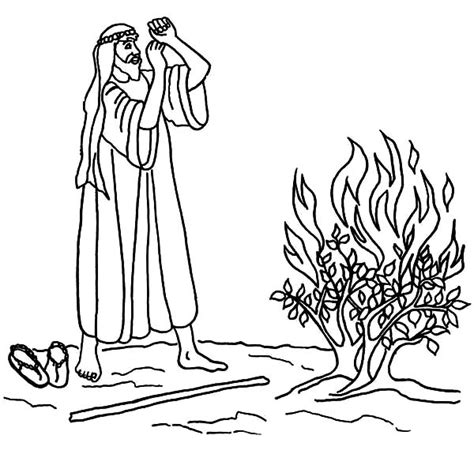 free coloring pages of moses fire