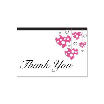 thank you card template 5 5 x 8 5 pink black thank you card templates begonia